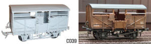 Dapol Model Railway Plastic Kits - BR Cattle Wagon - C039