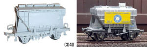 Dapol Model Railway Plastic Kits - Pressflo Cement Wagon - C040