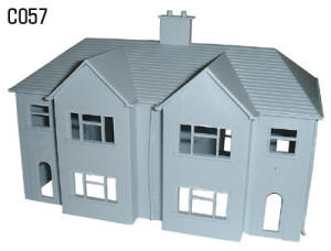 Dapol Model Railway Plastic Kits - Semi Detached House - C057