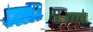 Dapol Model Railway Plastic Kits - Dapol 204 H.P. 0-6-0 Drewery Shunter Locomotive - C060