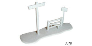 Dapol Model Railway Plastic Kits - Signpost and Stile - C078