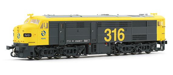 completamente elegante revisa muy agradable HE2404 - Electrotren - HO Gauge - Diesel Locomotive 1601 ...