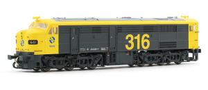 Electrotren HO Guage Model Railway - Hornby International - HE2404 Diesel locomotive 1601 RENFE