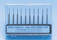 Expo Tools - Drills - 8 Piece Twist HSS Drill Set - 11500