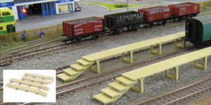 Gaugemaster - Fordhampton Carriage Platforms Plastic Kit - GM407