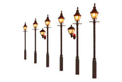 Gaugemaster Barley Twist Gas Lamp LMS Maroon (Value Pack) - GM853