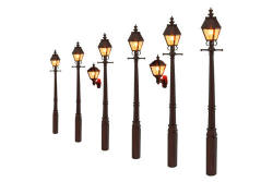 Gaugemaster Lights Taper Post Gas Lamp LMS Maroon (Value Pack) - - GM858
