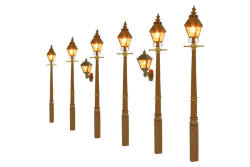 Gaugemaster Lights Taper Post Gas Lamp GWR Stone (Value Pack) - GM859