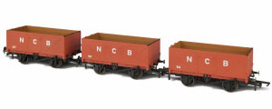GV6012 - Oxford Rail - NCB 7 Plank Open Coal Wagon - Pack of 3