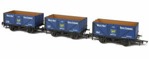 GV6014 - Oxford Rail - BP 7 Plank Open Coal Wagon - Pack of 3