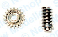 Hornby Spares - Worm and Worm Wheel Gears 0-4-0 - X8004