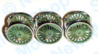 Hornby Spares - Locomotive Drive Wheel Set (Green) - X9823