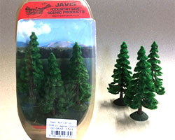 CST10 - Javis Countryside Trees 3x 120mm (OO Scale)
