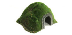 Javis - Single Track Tunnel - Flocked (N-Gauge) - TUNNEL4