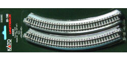 20-100 - KATO Uni Track - N Gauge - KATO Track Ground Level Radius 249mm Curved Track 45 Deg.(4)