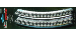 20-140 - KATO Uni Track - N Gauge - KATO Track Ground Level Radius 381mm Curved Track 30 Deg.(4))