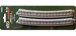 20-150 - KATO Uni Track - N Gauge - KATO Track Ground Level Radius 718mm Curved Track 15 Deg.(4)