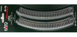 20-170 - KATO Uni Track - N Gauge - KATO Track Ground Level Radius 216mm Curved Track 45 Deg. (4)