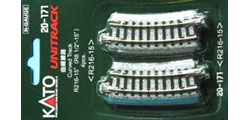 20-171 - KATO Uni Track - N Gauge - KATO Track Ground Level Radius 216mm Curved Track 15 Deg.(4)
