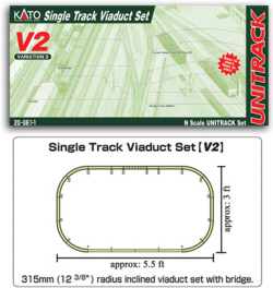 20-861 - KATO Uni Track - N Gauge - V2 Up and Down Elevated Oval Variation Pack