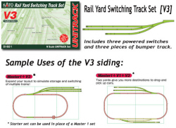20-862 - KATO Uni Track - N Gauge - V3 Sidings Variation Pack