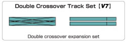 20-866 - KATO Uni Track - N Gauge - KATO Track - V7 Scissors Crossing Variation Pack