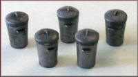 Knightwing Model Railway Metal Kits - Dustbins - B2