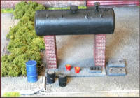 Knightwing Model Railway Metal Kits - Oil Storage Tank - B22