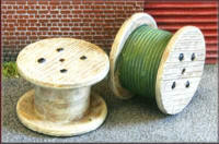 Knightwing Model Railway Metal Kits - Cable Drums (Wood) - B23