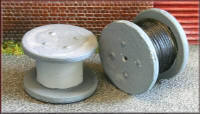 Knightwing Model Railway Metal Kits - Cable Drums (Metal) - B32