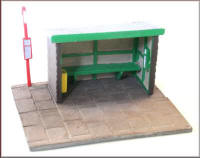Knightwing Model Railway Metal Kits - Bus Shelter Wood - B48
