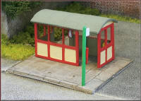 Knightwing Model Railway Metal Kits - Bus Shelter Concrete - B49
