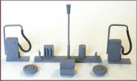 Knightwing Model Railway Metal Kits - Garage Forecourt - B60