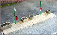 Knightwing Model Railway Metal Kits - Bus Stop with Pavement - B61
