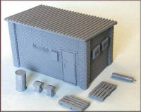Knightwing Model Railway Metal Kits - Storage Building - B68