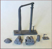 Knightwing Model Railway Metal Kits - Steam Engine Shed Scene with BR Water crane and Accessories - B71