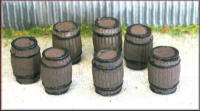Knightwing Model Railway Metal Kits - Wooden Casks / Barrels Medium- B80