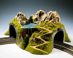 Noch - Curved Tunnel, Double Track, 43 x 41 cm, 23 cm Height - N05180