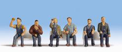 Noch Figures - Sitting Workers (6) - N15278