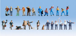 "N16109 - Noch - XL Figures Set ""At Work"" (24)"