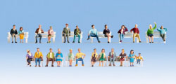 "N16130 - Noch - XL Figures Set ""Sitting People"" (24)"