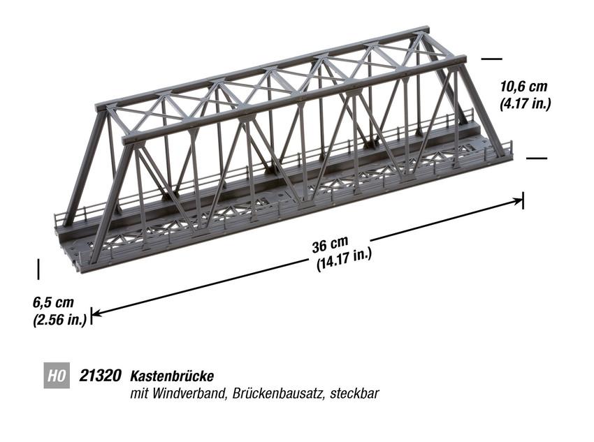 n21320 - noch girder bridge kit 36cm long