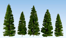 Noch - Profi Trees - Fir Trees Dark Green 7-14cm (7) - N24500