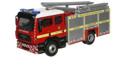New Modellers Shop - Oxford Diecast - Oxford Diecast MAN Pump Ladder - Devon and Somerset Fire and Rescure - 76MFE004