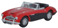Oxford Diecast Austin Healey 3000 - Colorado Red / Black - 76AH3002