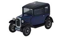 Oxford Diecast Austin Seven Saloon - Light Royal Blue - 76ASS001