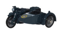 Oxford Diecast BSA Motorcycle and Sidecar - RAF Blue - 76BSA008