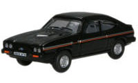 New Modellers Shop - Oxford Diecast - Sebring Black Ford Capri Mk3 - 76CAP005
