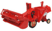 Oxford Diecast Combine Harvester Red - 76CHV001