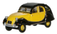 Oxford Diecast Citroen 2CV Yellow and Black - 76CT002